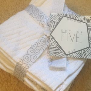 Other - Set of Five, 💯 % cotton washcloths